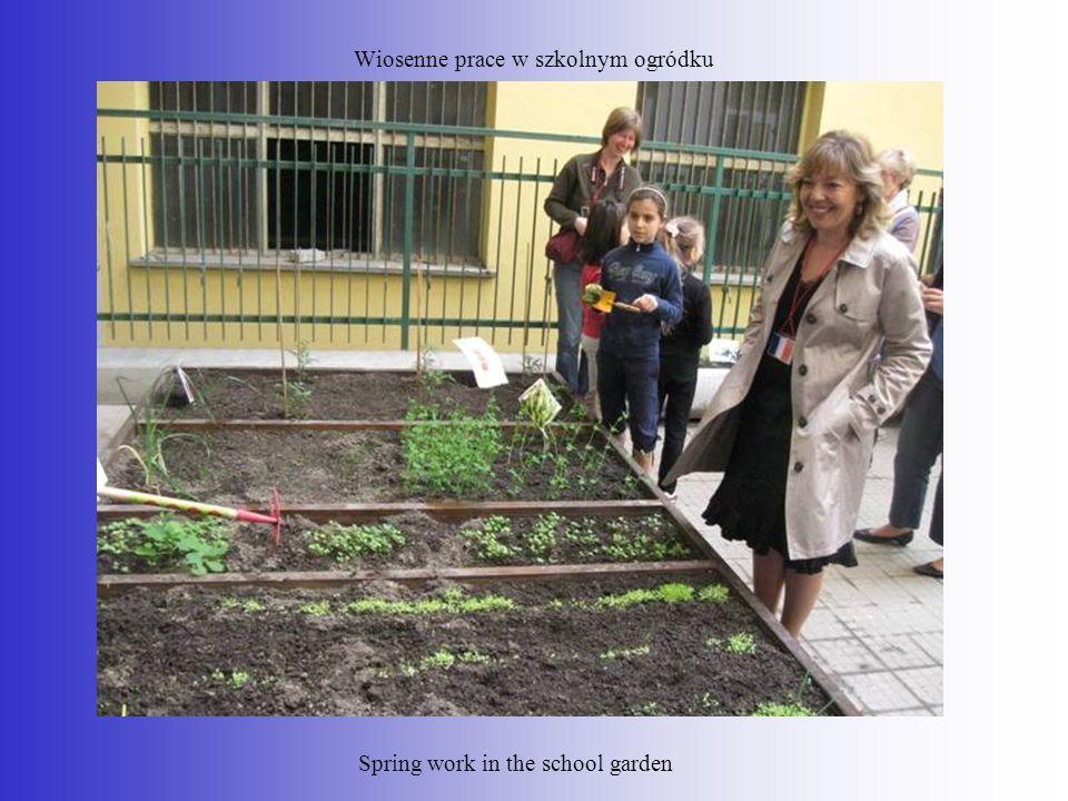 Wiosenne prace w szkolnym ogródku