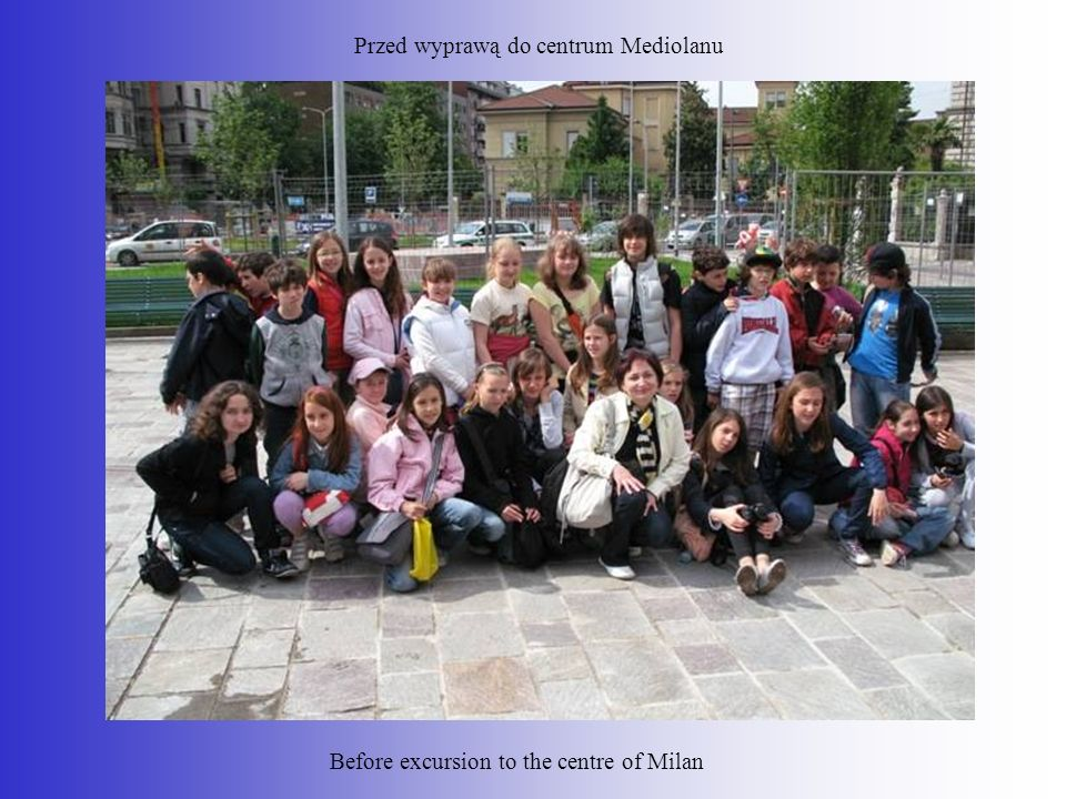 Przed wyprawą do centrum Mediolanu