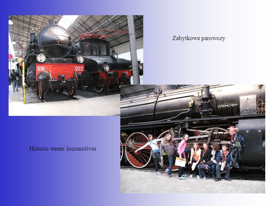 Historic steam locomotives