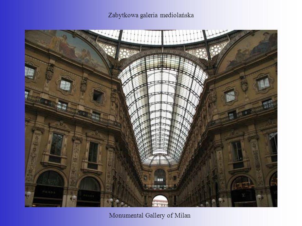 Zabytkowa galeria mediolańska