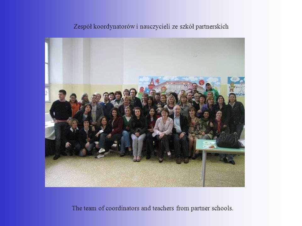 Zespół koordynatorów i nauczycieli ze szkół partnerskich