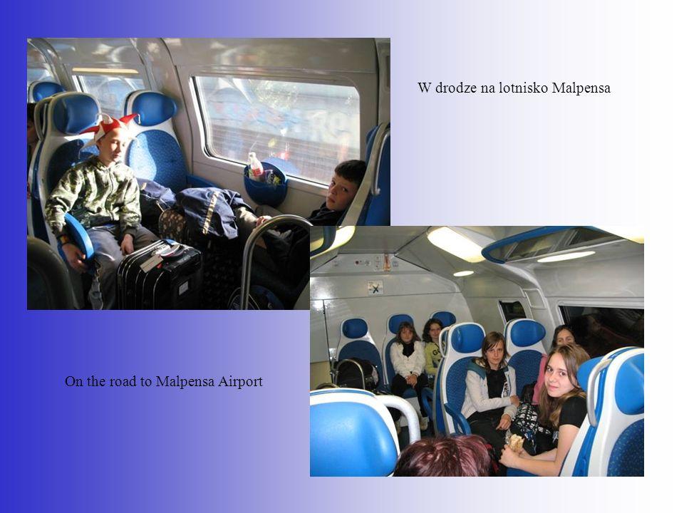 W drodze na lotnisko Malpensa