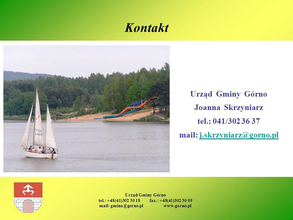 mail: j.skrzyniarz@gorno.pl mail: gmina@gorno.pl www.gorno.pl
