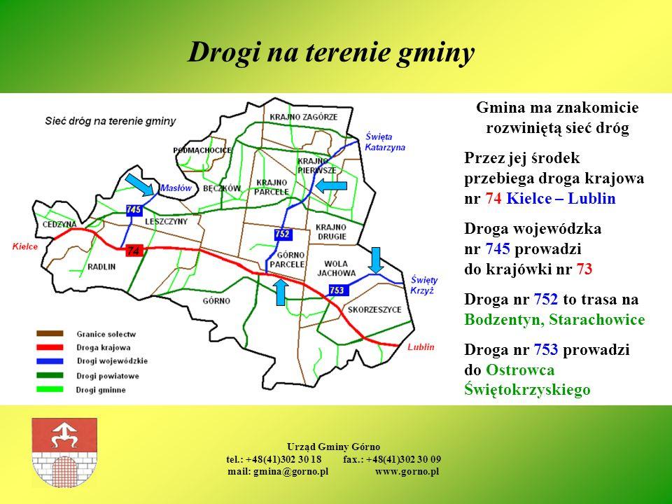 Drogi na terenie gminy Gmina ma znakomicie rozwiniętą sieć dróg