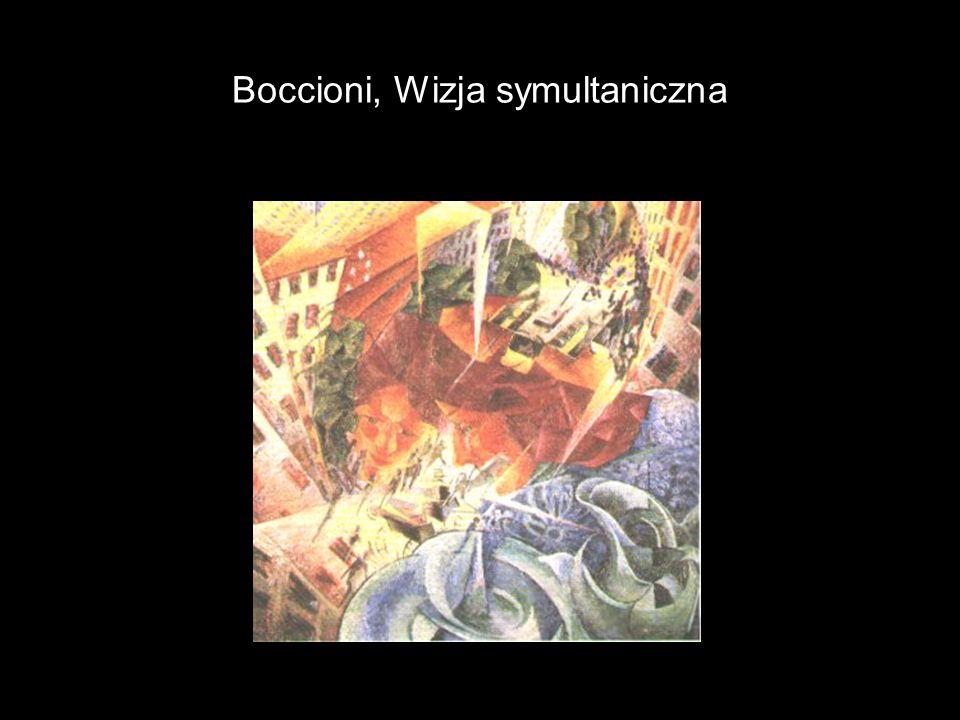 Boccioni, Wizja symultaniczna