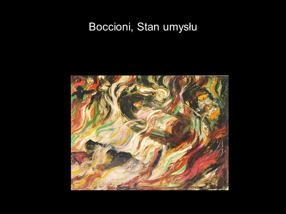 Boccioni, Stan umysłu