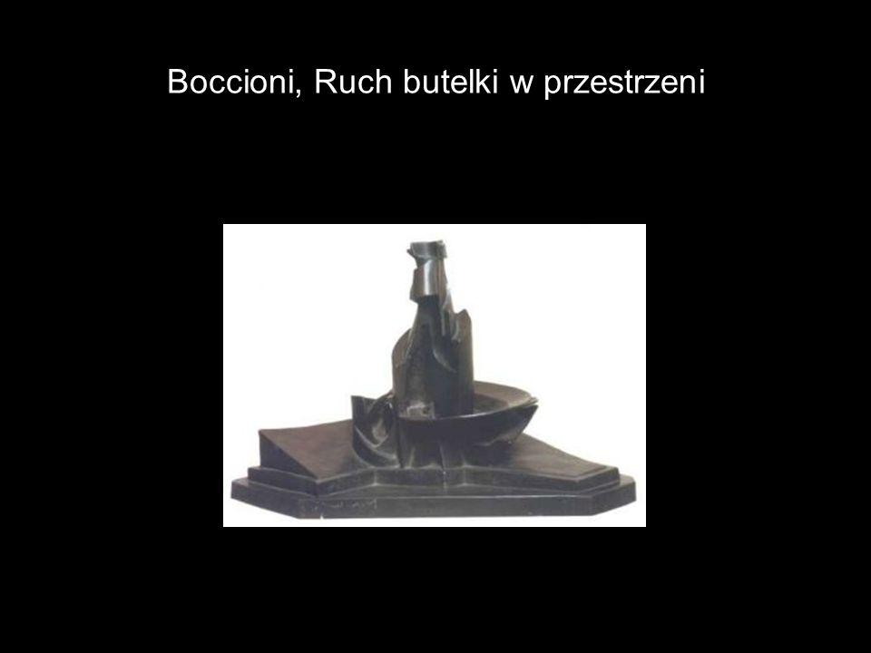 Boccioni, Ruch butelki w przestrzeni
