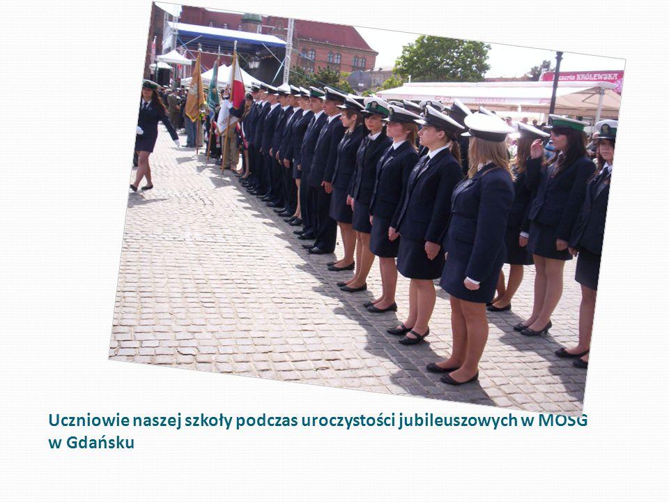 Uczniowie naszej szkoły podczas uroczystości jubileuszowych w MOSG w Gdańsku
