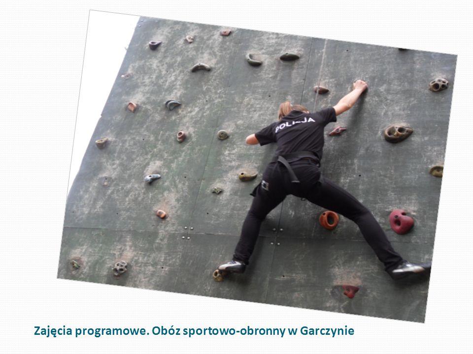 Zajęcia programowe. Obóz sportowo-obronny w Garczynie
