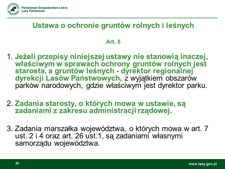 Ustawa o ochronie gruntów rolnych i leśnych