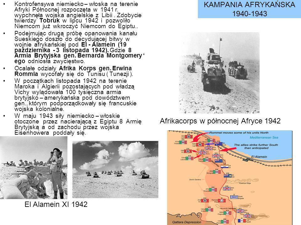 Afrikacorps w północnej Afryce 1942
