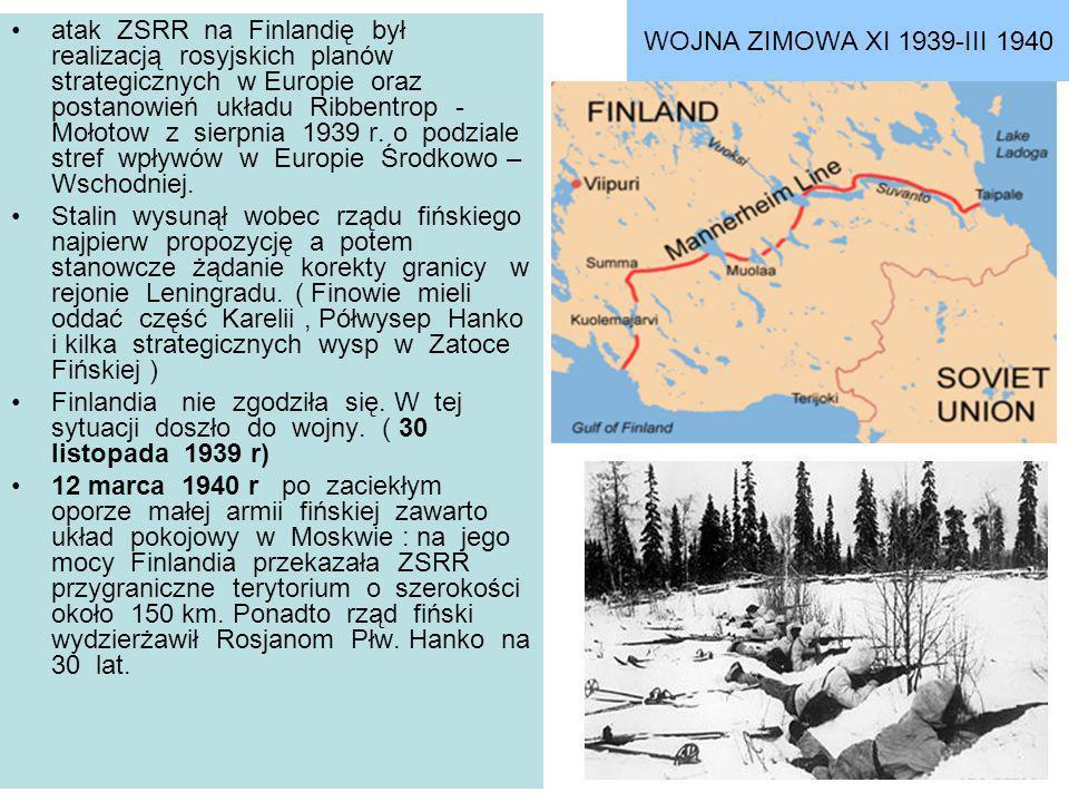WOJNA ZIMOWA XI 1939-III 1940