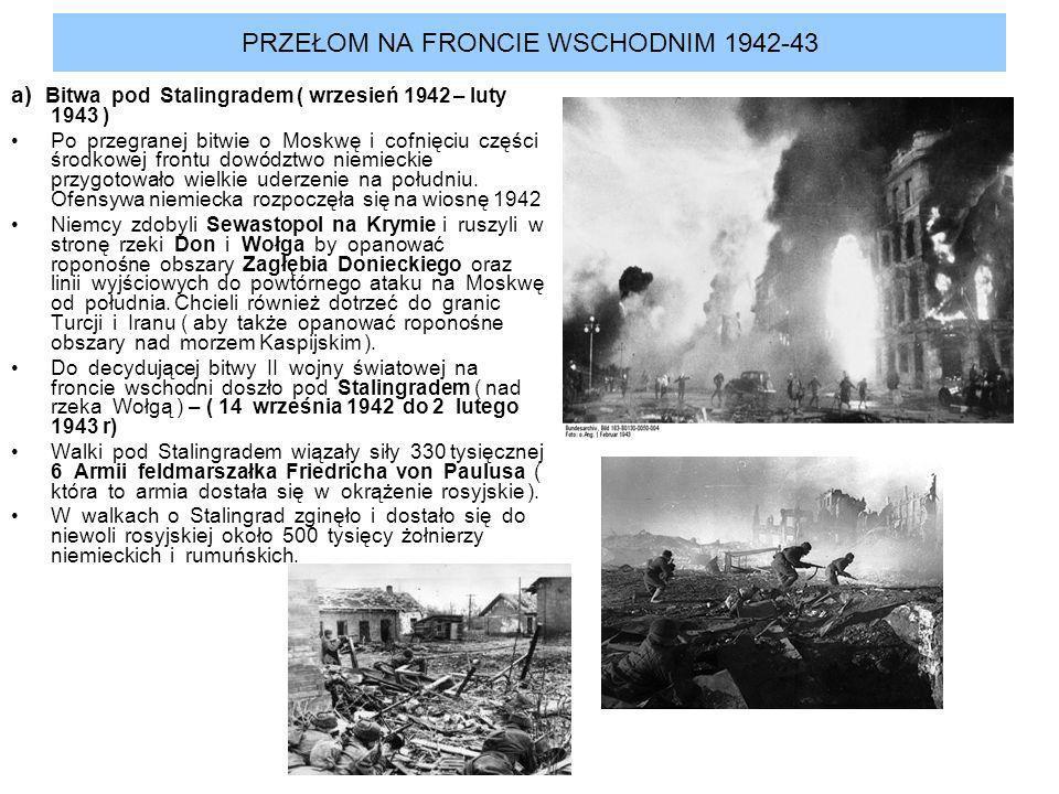 PRZEŁOM NA FRONCIE WSCHODNIM 1942-43
