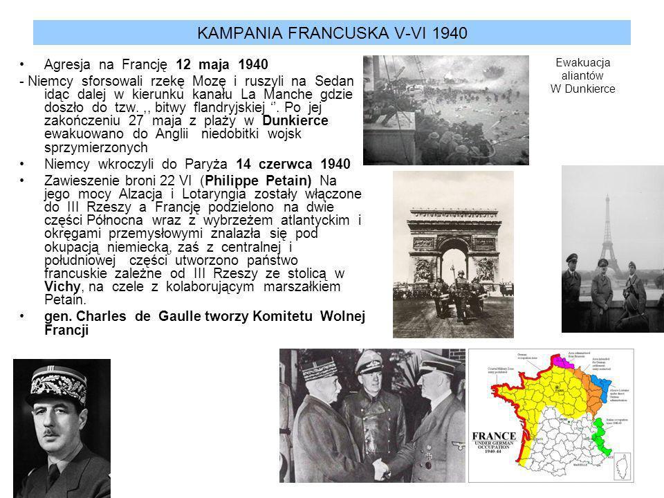 KAMPANIA FRANCUSKA V-VI 1940