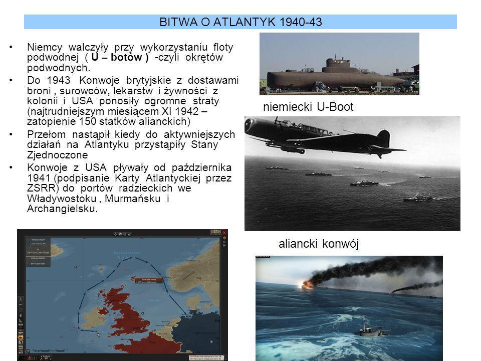 BITWA O ATLANTYK 1940-43 niemiecki U-Boot aliancki konwój