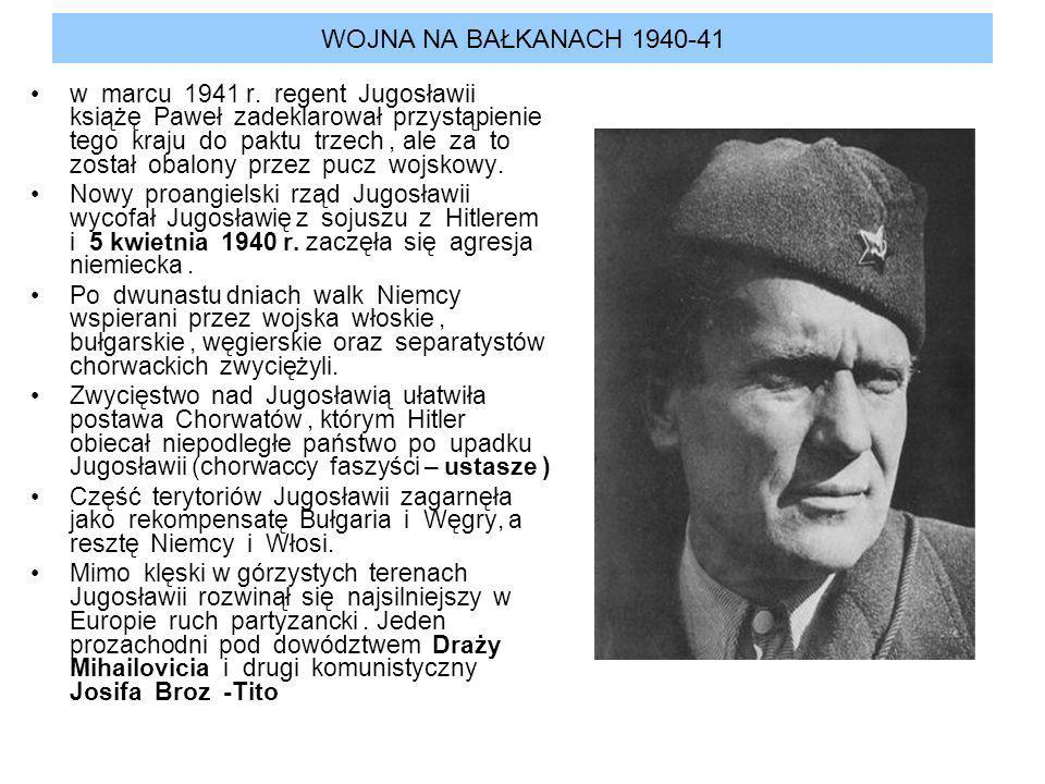 WOJNA NA BAŁKANACH 1940-41