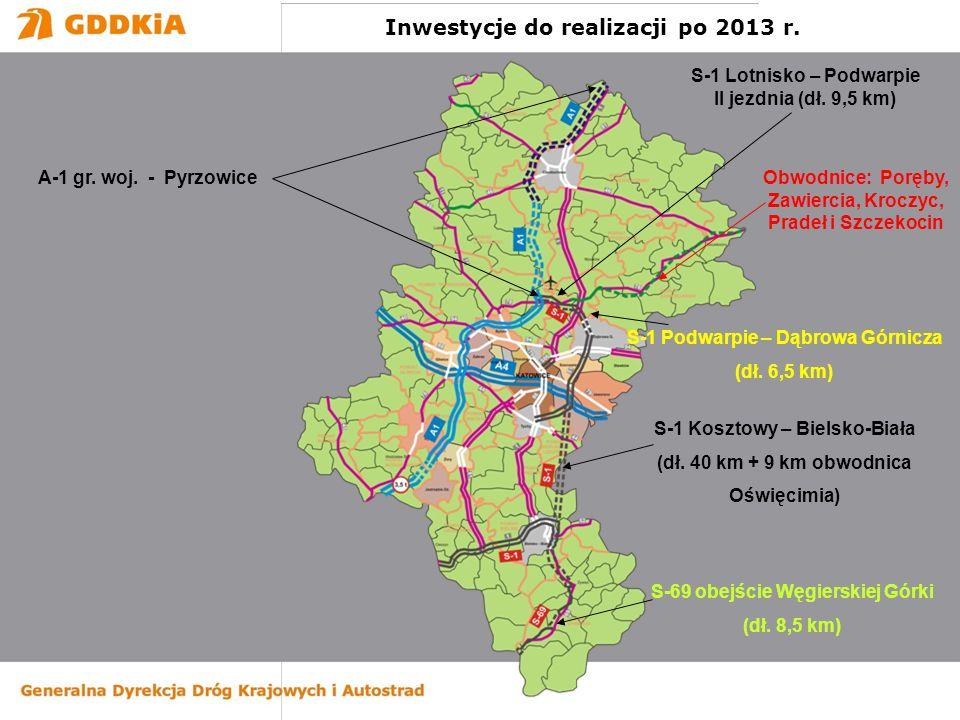 Inwestycje do realizacji po 2013 r.