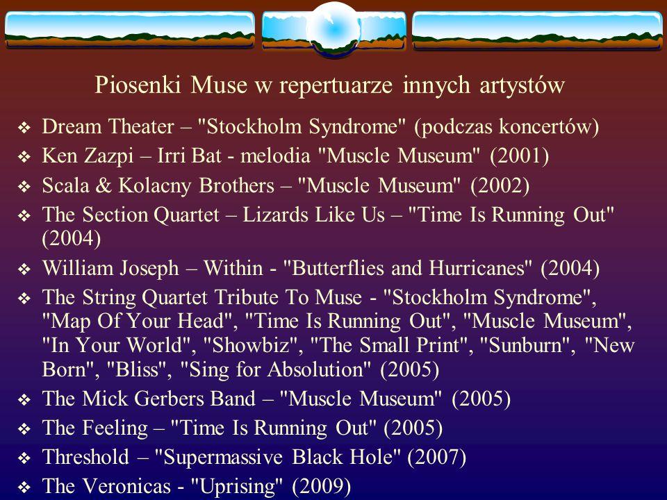 Piosenki Muse w repertuarze innych artystów