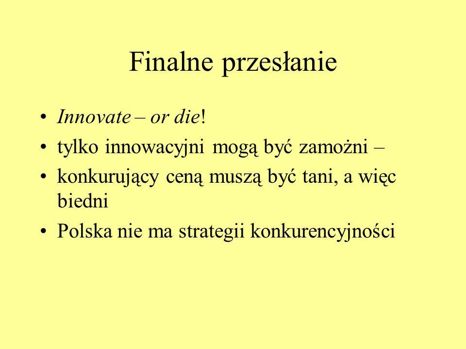 Finalne przesłanie Innovate – or die!