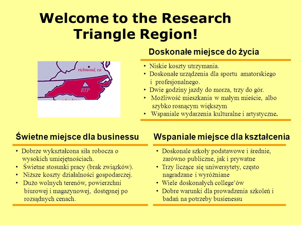 Welcome to the Research Triangle Region!