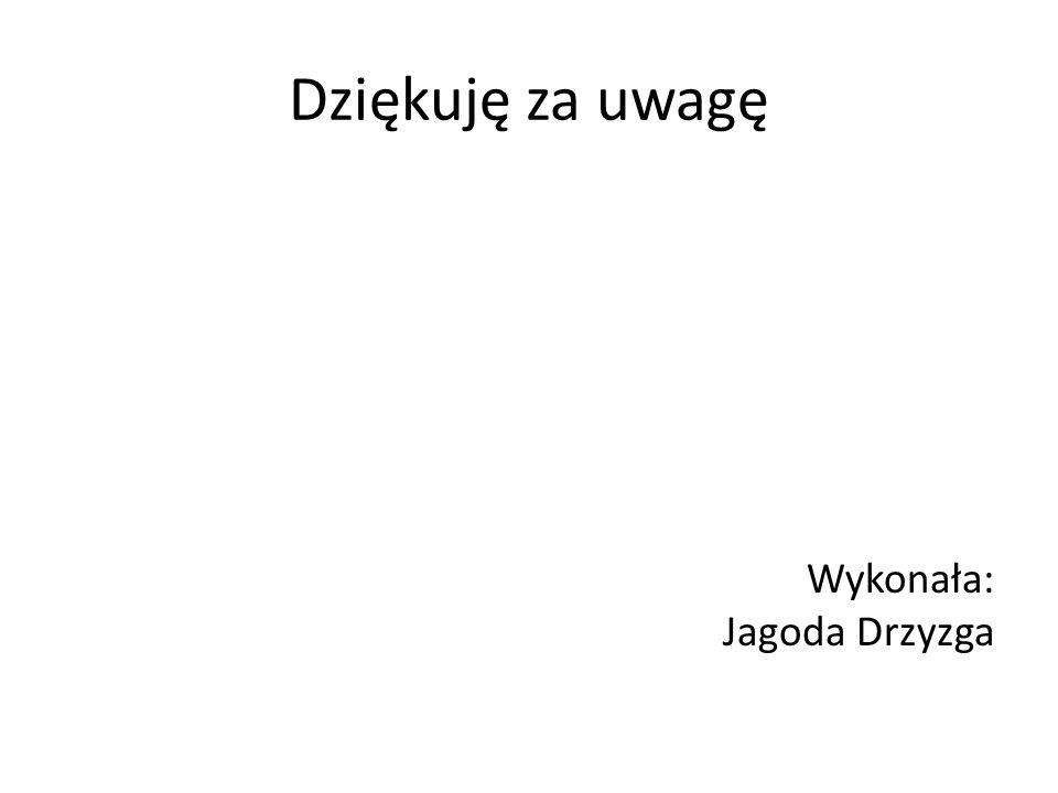 Dziękuję za uwagę Wykonała: Jagoda Drzyzga