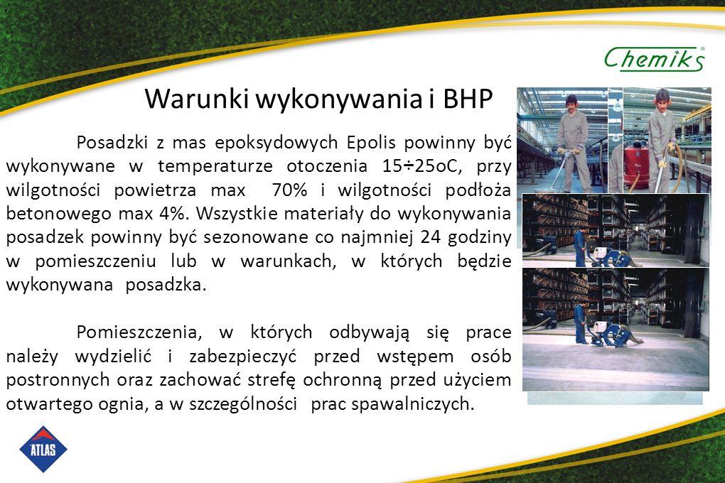 Warunki wykonywania i BHP