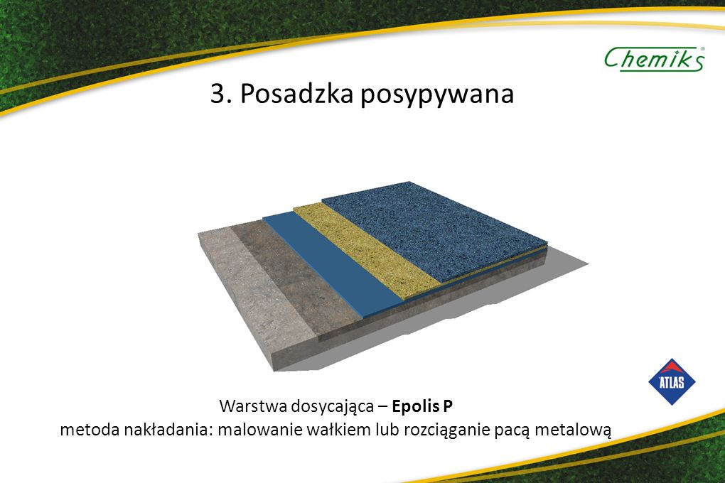 3. Posadzka posypywana Warstwa dosycająca – Epolis P