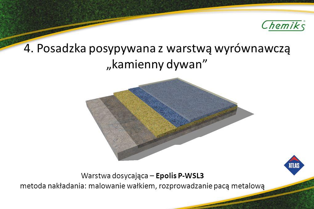 """4. Posadzka posypywana z warstwą wyrównawczą """"kamienny dywan"""