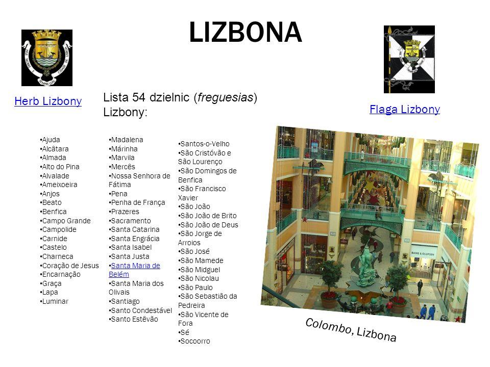 LIZBONA Lista 54 dzielnic (freguesias) Lizbony: Herb Lizbony