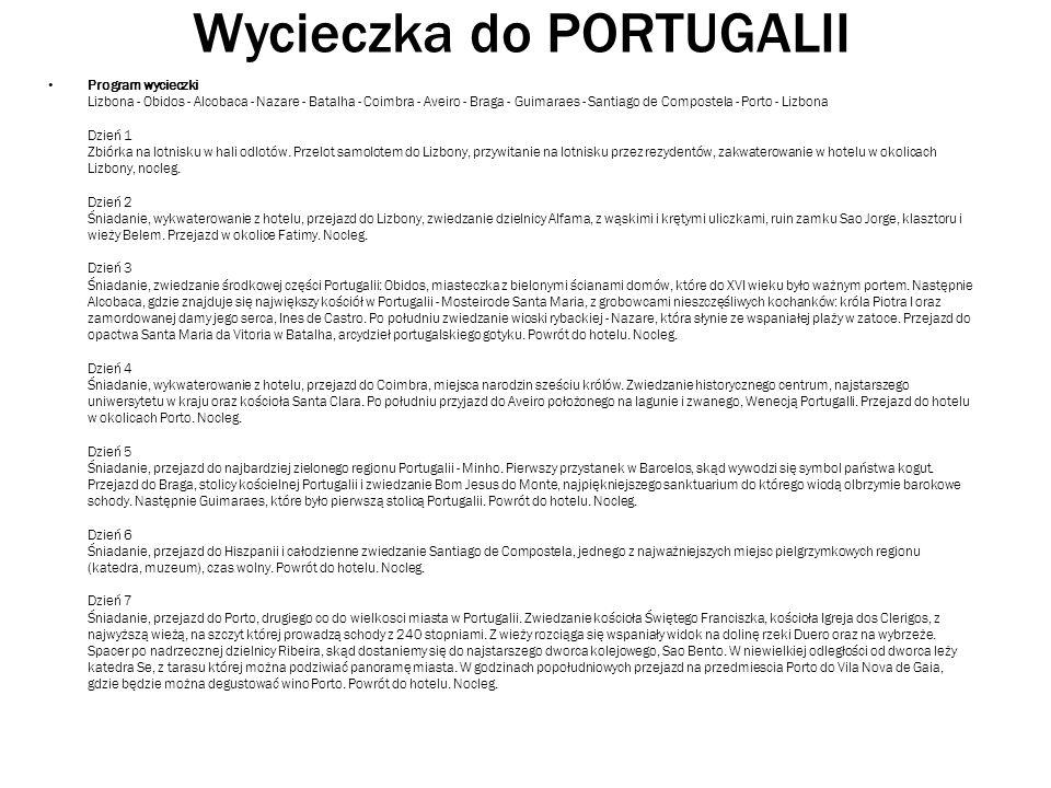 Wycieczka do PORTUGALII
