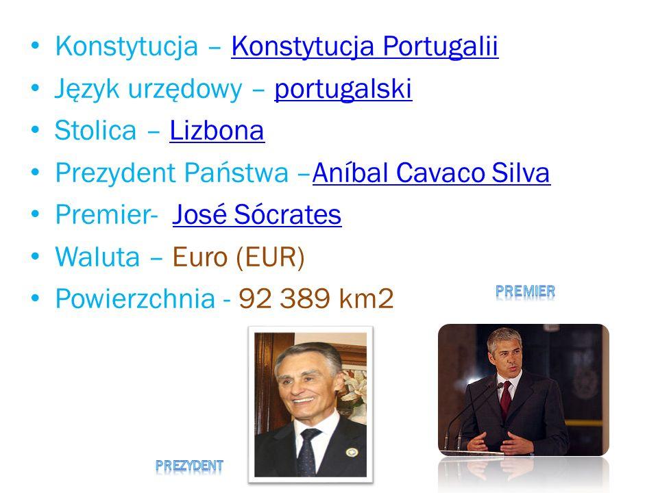 Konstytucja – Konstytucja Portugalii Język urzędowy – portugalski