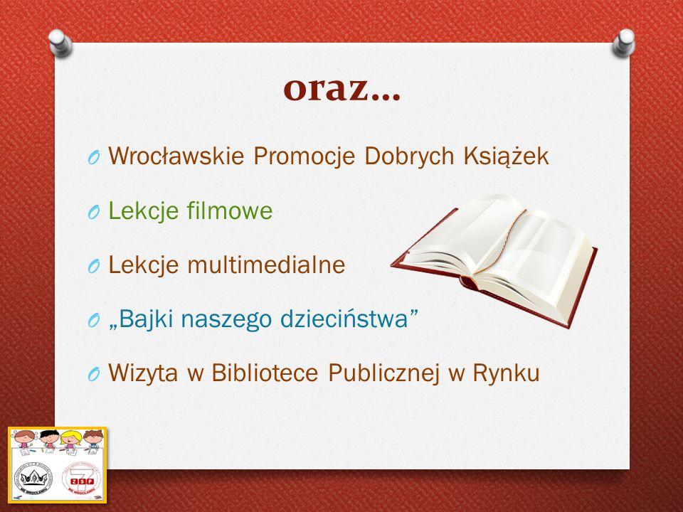 oraz… Wrocławskie Promocje Dobrych Książek Lekcje filmowe