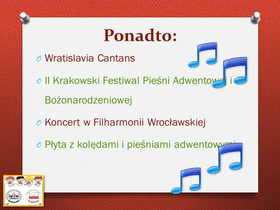 Ponadto: Wratislavia Cantans