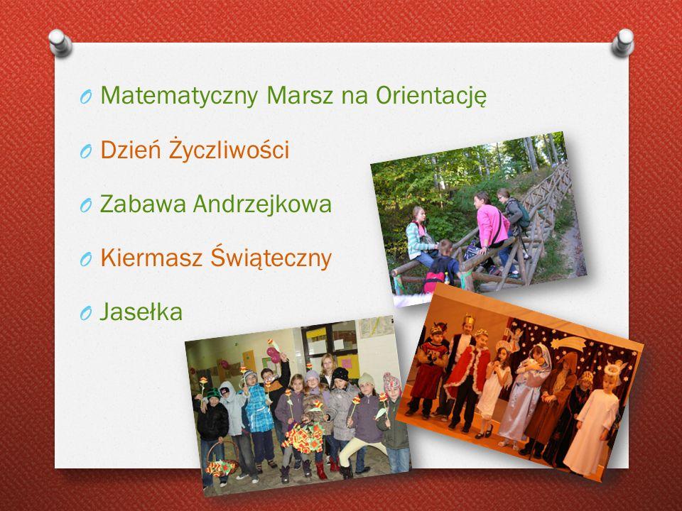 Matematyczny Marsz na Orientację Dzień Życzliwości Zabawa Andrzejkowa