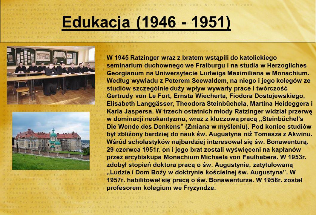 Edukacja (1946 - 1951)