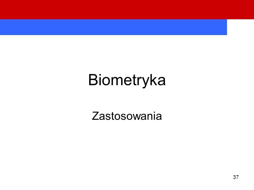 Biometryka Zastosowania