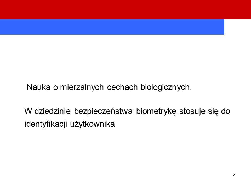 Nauka o mierzalnych cechach biologicznych.