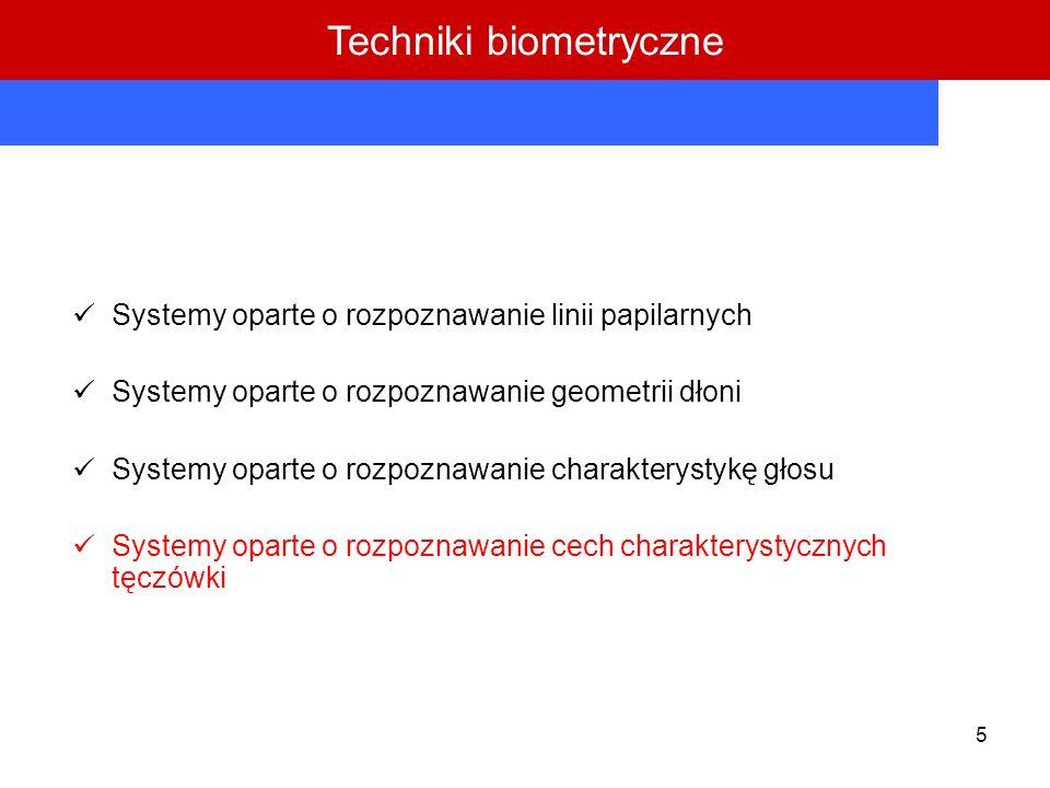 Techniki biometryczne