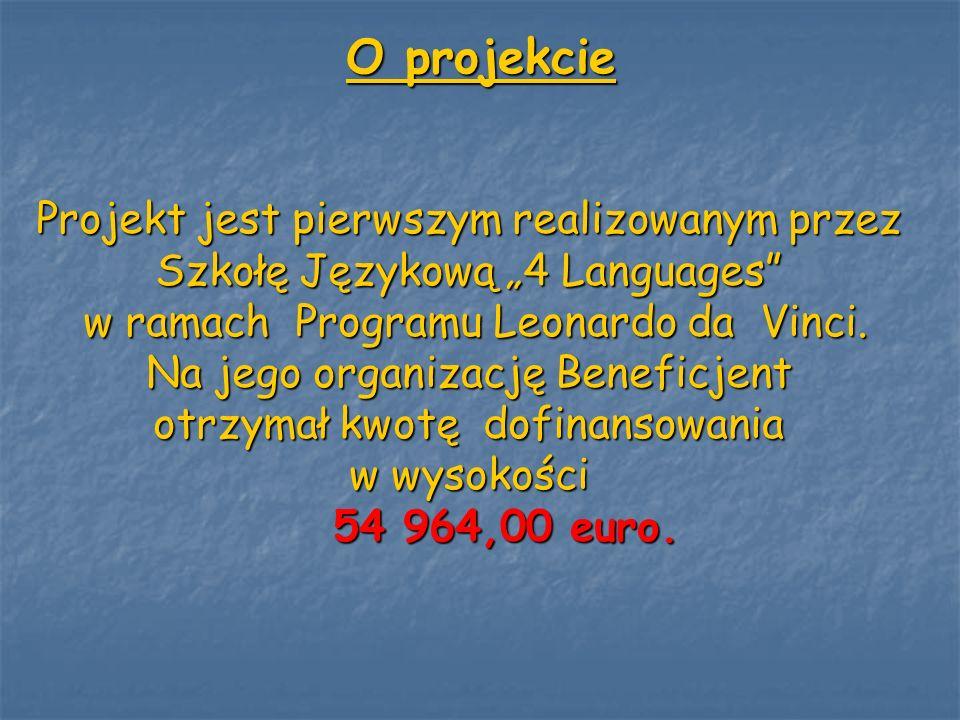 O projekcie Projekt jest pierwszym realizowanym przez