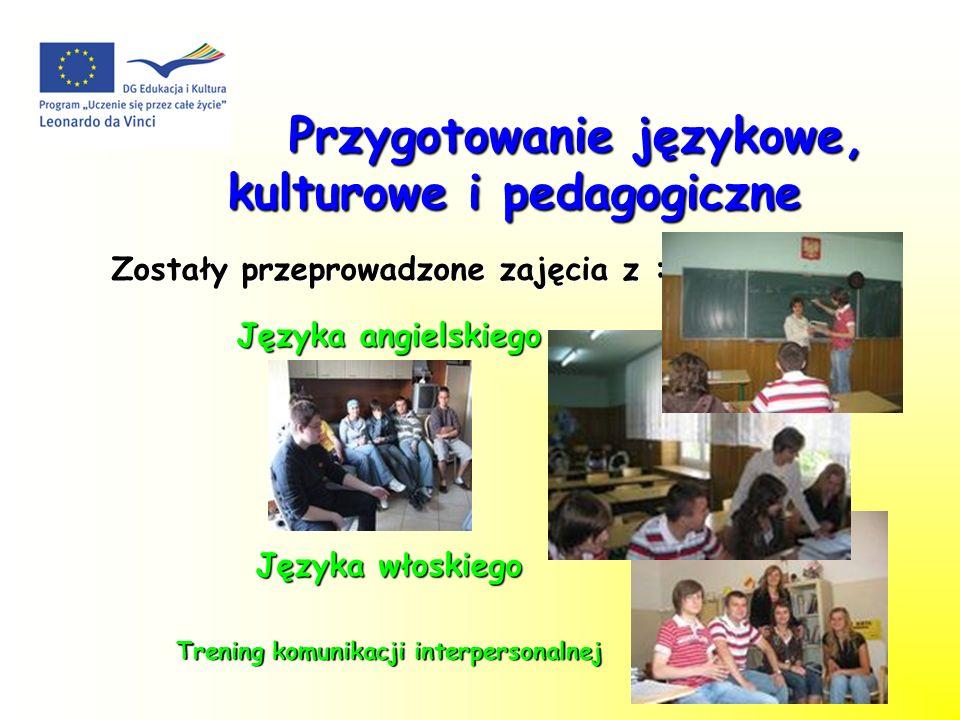 Przygotowanie językowe, kulturowe i pedagogiczne