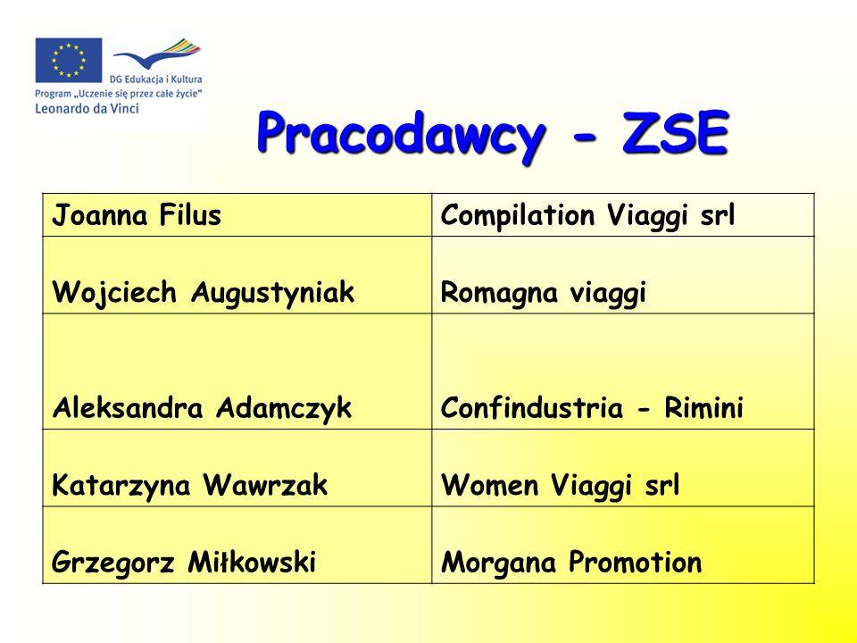Pracodawcy - ZSE Joanna Filus Compilation Viaggi srl