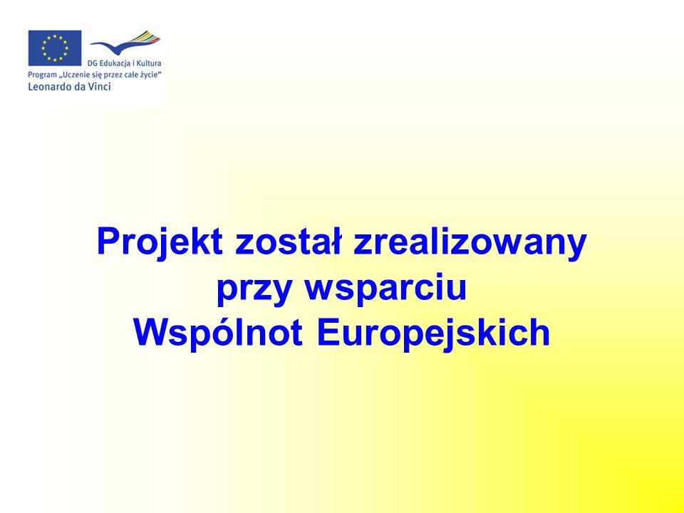 Projekt został zrealizowany Wspólnot Europejskich