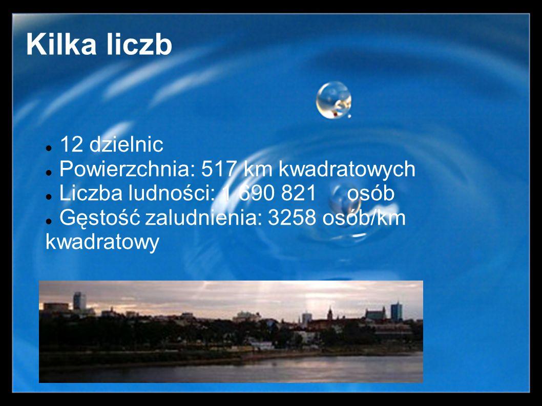 Kilka liczb 12 dzielnic Powierzchnia: 517 km kwadratowych