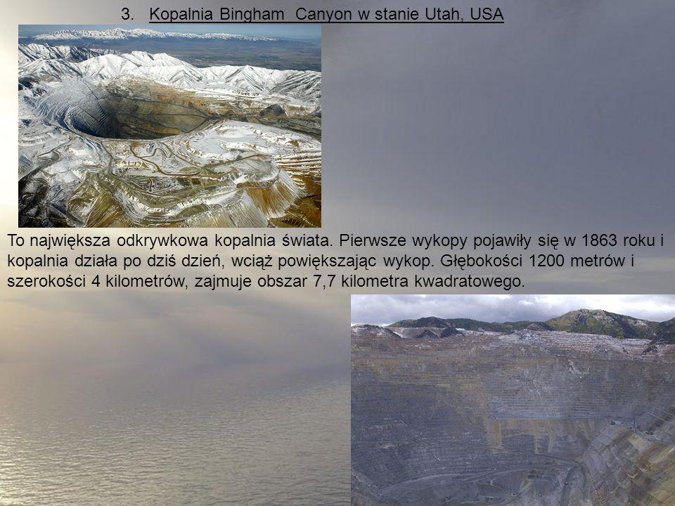 3. Kopalnia Bingham Canyon w stanie Utah, USA