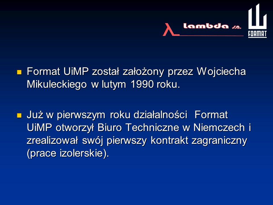 Format UiMP został założony przez Wojciecha Mikuleckiego w lutym 1990 roku.