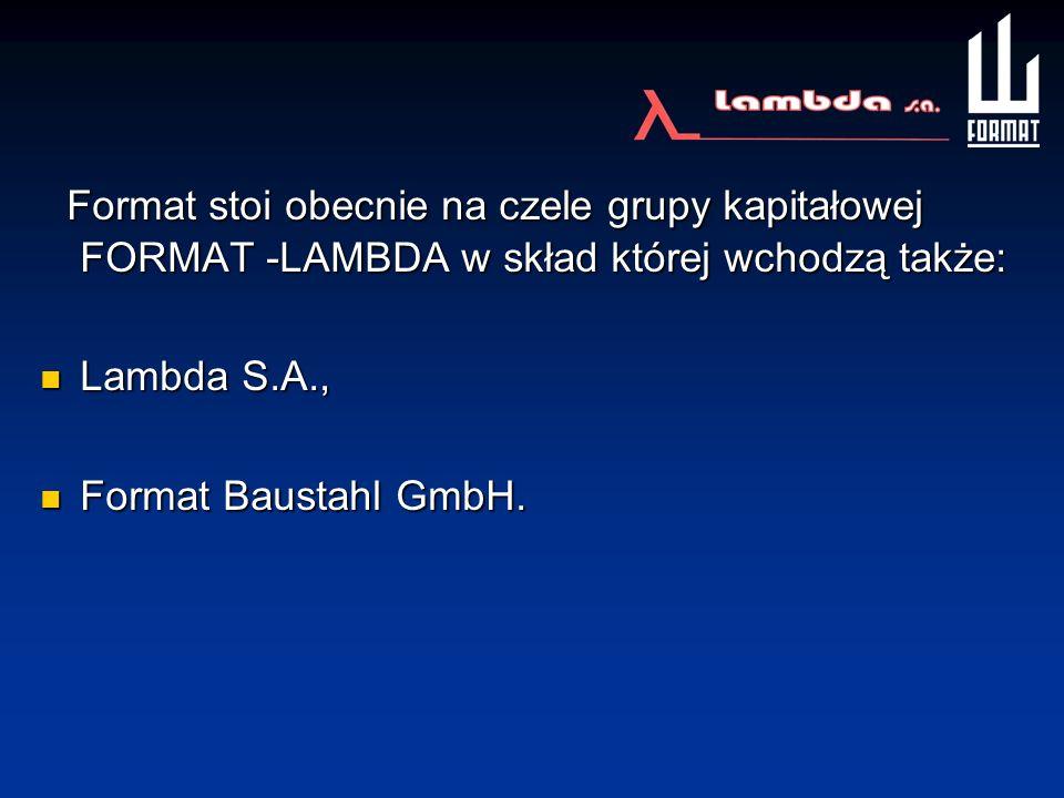 Format stoi obecnie na czele grupy kapitałowej FORMAT -LAMBDA w skład której wchodzą także: