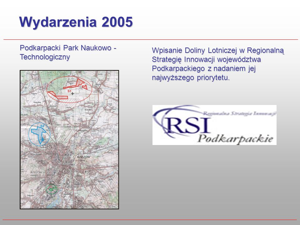Wydarzenia 2005 Podkarpacki Park Naukowo -Technologiczny