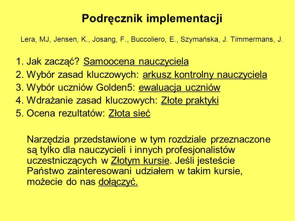 Podręcznik implementacji Lera, MJ, Jensen, K. , Josang, F