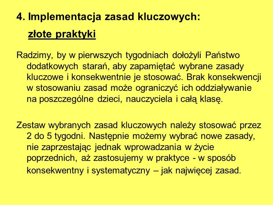 4. Implementacja zasad kluczowych: złote praktyki