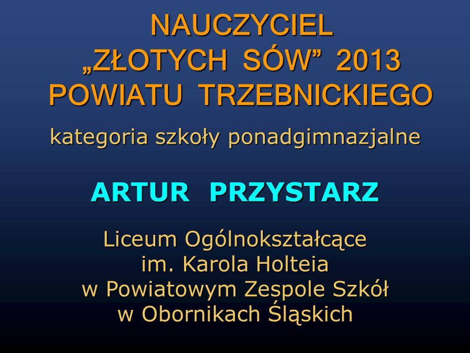 """NAUCZYCIEL """"ZŁOTYCH SÓW 2013 POWIATU TRZEBNICKIEGO"""